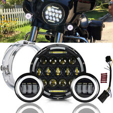 For Harley Davidson Touring Road King Motorcycle LED Headlamp Passing Lights