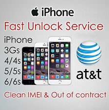 NETWORK UNLOCK SERVICE CODE FOR AT&T ATT USA iPhone 4 4S 5 5S 6 6+ 6S Plus 7 SE