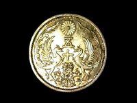 50 sen 1937 Japón plata era Showa XF manchas de brillo original (A1)