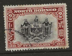 NORTH BORNEO  SG 301  1931 $2 USED