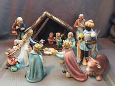 GOEBEL HUMMEL 14PC NATIVITY SET #214 With Wooden Manger