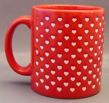 Waechtersbach West Germany Valentine Red Coffee Tea Mug With Tiny White Hearts