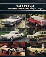 Dodge 1977 Export Market Sales Brochure In English Aspen Charger Monaco Royal
