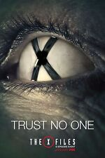 The X Files Season 10 TV Poster 2016 (24x36) - Trust No One, Fox Mulder, Scully