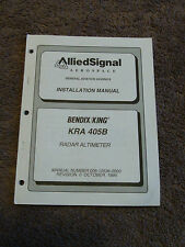King Bendix KRA 405B Installation Manual Operation Radar Altimeter KNI 415 416