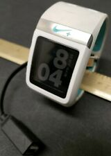 TomTom Nike + SportWatch White Teal GPS Watch Nice W/ Charger Bundle