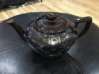 "MG Made In Japan 4.5"" Tall 7.5"" Long Ceramic Teapot Japanese"
