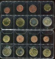 BELGIUM SET 8 COIN 1 2 5 10 20 50 CENT 1 2 EURO 1999-2000 UNC