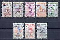27905) DOMINICANA REP. 1957 MNH** Nuovi** Olympic G.