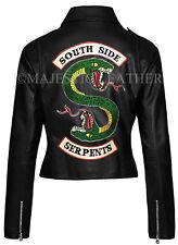 Women's Riverdale Southside Serpents Gang Jughead Jones Cole Sprouse Bike Jacket