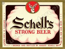 "New ListingSchell'S Strong Beer Label 9"" x 12"" Sign"