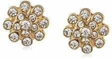 Brass Yellow Gold Plated Flowers & Plants Costume Earrings