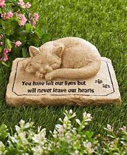 NEW Pet Memorial Garden Cemetery Grave Marker CAT Statue Sculpture Tomb Stone
