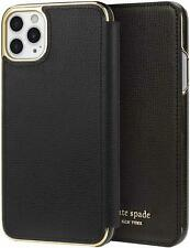 Kate Spade New York Inlay Folio Case for iPhone 11 Pro Max Black Best Gifts NEW