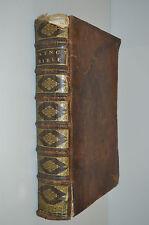 GRANDE BIBLE XVII 1683 couverture CUIR IMPRIMERIE Pierre Variquet Vieux Français