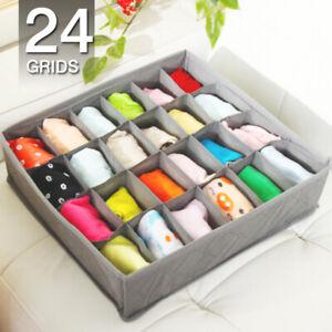 6/7/24Grid Drawer Divider Closet Underwear Sock Bra Organizer Storage Container