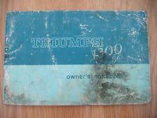 Triumph 1300 Original Owner's Handbook