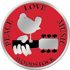 WOODSTOCK LOGO - METALLIC STICKER 3 x 3 - BRAND NEW - DECAL MUSIC FESTIVAL 7752