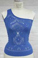 New Free People Womens Intimately Seamless One Shoulder Tank Top Blue Xs/S $48