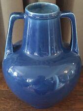 "Antique Bretby Art Pottery Aqua/ Blue Porcelain 7 3/4"" tall Vase England 1900"