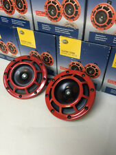 Hella Supertone Horn Kit 12V 300/500HZ Red (003399803 = 003399801) MEGA LOUD X 2