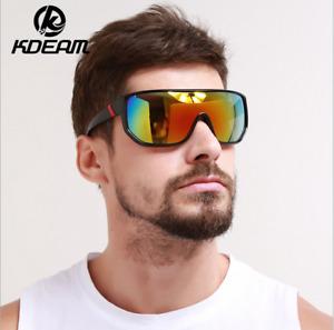 KDEAM 7 Colors Mens Sport Sunglasses Outdoor Riding Cycling UV400 Goggles
