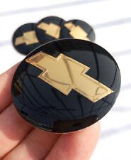"2.2"" 56mm Black Yellow Emblem Badge Wheel Center Hub Cap Sticker for Chevrolet"