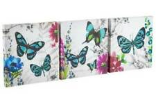 EXOTIC Butterflies Set of 3 Canvas Wall Art Picture Wall Hanging Home Decor