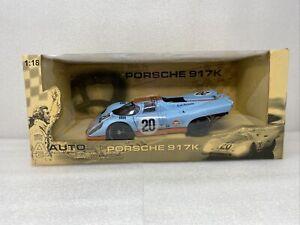 1/18 Auto Art Porsche 917 1970 LeMans Movie Wyre Gulf Steve McQueen 80030 RARE