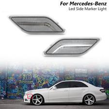 Clear Led White Side Marker Light For 10 13 Mercedes Benz W212 E Class E350 E550