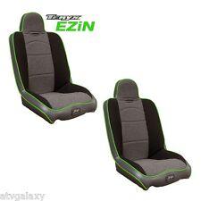 PRP EZIN Front Seats Pair (2) Black Tweed Green Kawasaki Teryx 750 2008-2013