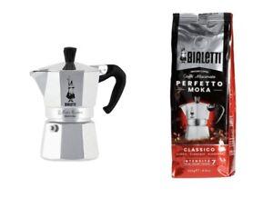 Bialetti Moka Express 3-Cup & Bialetti Moka Classico Perfetto Coffee 🇮🇹