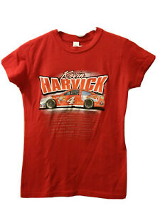 Kevin Harvick #4 Women's Red Cap Sleeve  T-Shirt Size Small