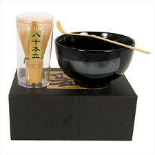 Japanese Tea Ceremony Matcha Bowl, Scoop/ Whisk Set/GINSUGI With Gift Box/ A-2