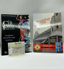 More details for rare manchester united v crystal palace 1990 fa cup final programme + ticket