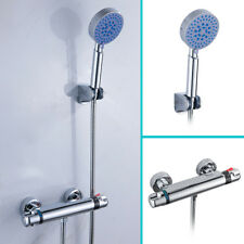Modern Thermostatic Bar Bathroom Taps Bath Shower Mixer Valve With Head & Hose