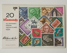20 Diamond Shape All Different  Postage Stamps, Stamp Collection, SEALED PACKET