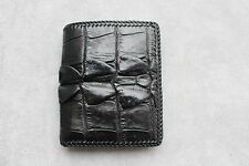 Unique Black Genuine Alligator, Crocodile Leather Skin Men's Bifold Wallet