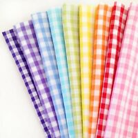 "Gingham Check Retro Crafting Bunting Dressmaking Fat Quarters Bundles 1/4"" 1/8"""