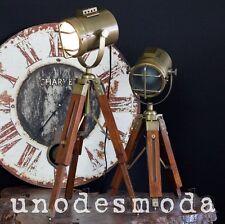 2 x Tripod Nautical Spot Lights Table Lamps Bedside Rustic Vintage Industrial AU