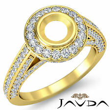 Diamond Engagement Round Semi Mount Ring 1.25C Pre-Set F-G Color 14k Yellow Gold