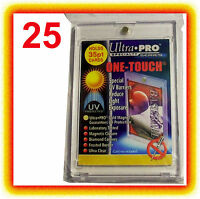 25 Ultra Pro ONE TOUCH MAGNETIC 35pt UV Card Holder Display Case Two Piece 81575