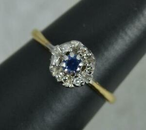 18 Carat Gold Sapphire and Diamond Cluster Ring