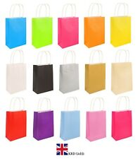 PARTY BAGS With Handles Craft Paper Wedding Birthday Loot Favour Gift Bag Lot UK
