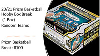 2020-21 Panini Prizm NBA Basketball Hobby Box - Random Team Break - Read Details