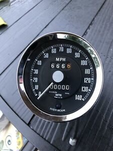 Austin Healey Bj8  Big Healey Mph  Recon Speedometer  140 Mph Outright /exchange