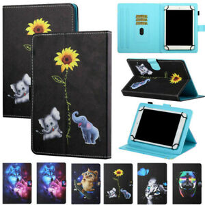 """For Samsung Tablets 7"""" 8"""" 10"""" Folding Folio Leather Stand Case Cover Universal"""