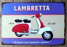 Lambretta Scooter Mods Brighton nostalgique Plaque métal signe autres mis en vente B9