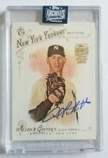 2020 Andy Pettitte Topps Archives On Card Autograph 1 OF 1 New York Yankees !!