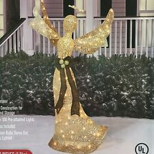 "48"" Lighted Shimmering Champagne Christmas Angel Outdoor Christmas Decor"